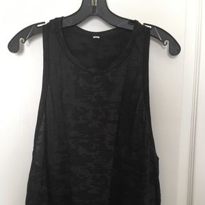 lululemon All Tied Up (Black Camo) Tank